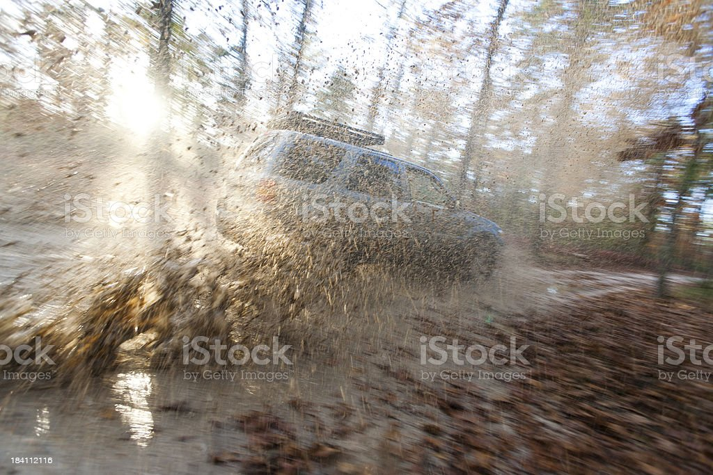 Sport Utility Vehicle, Pine Barrens, New Jersey royalty-free stock photo