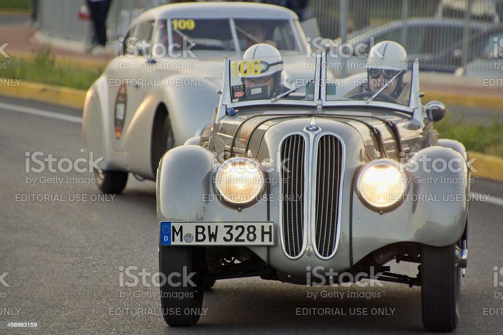BMW 328 Sport (year 1939) vintage car stock photo