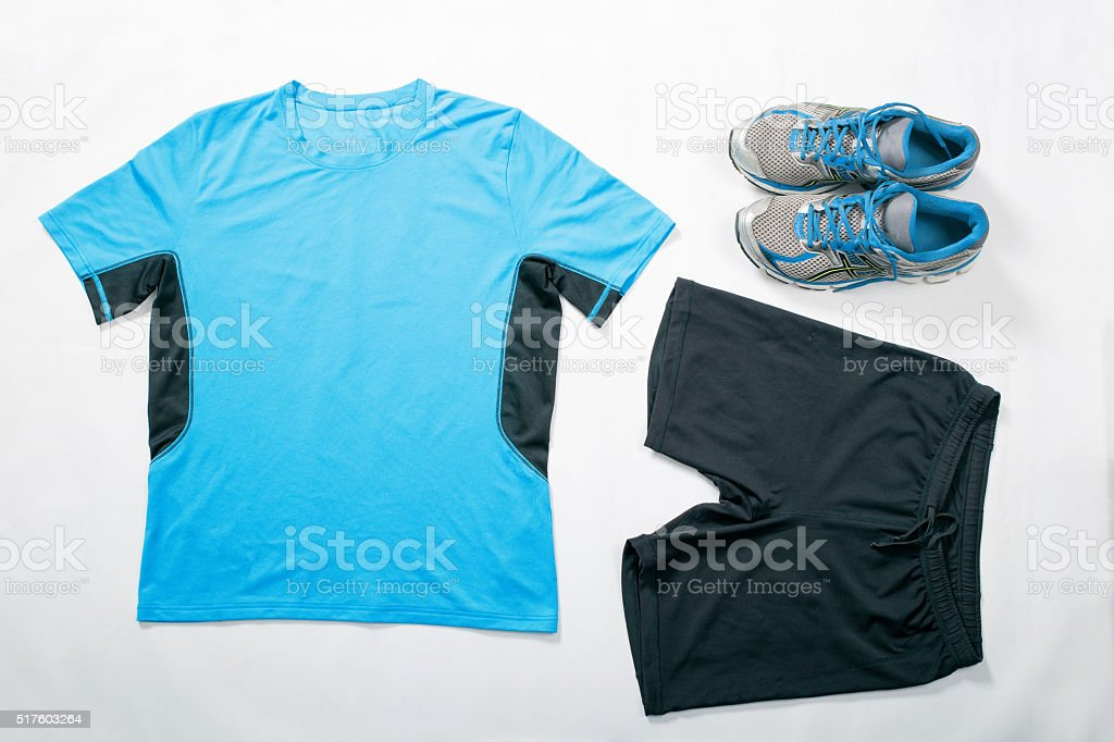Sport wear. Flat lay stock photo