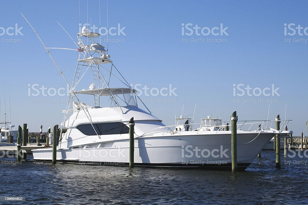 Sportfishing Yacht royalty-free stock photo