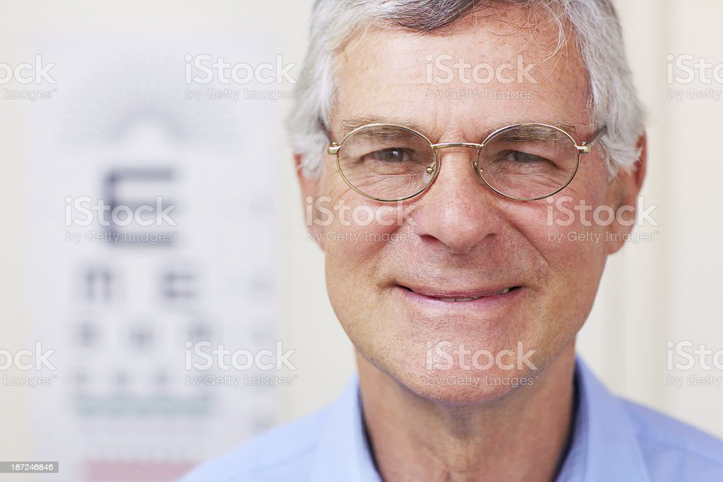 Sporting a great new pair of glasses royalty-free stock photo
