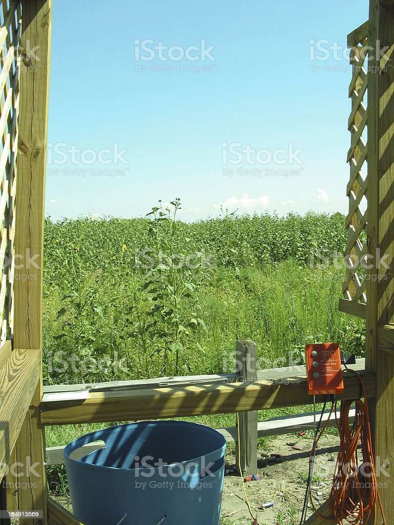 Sporting clays station one royalty-free stock photo