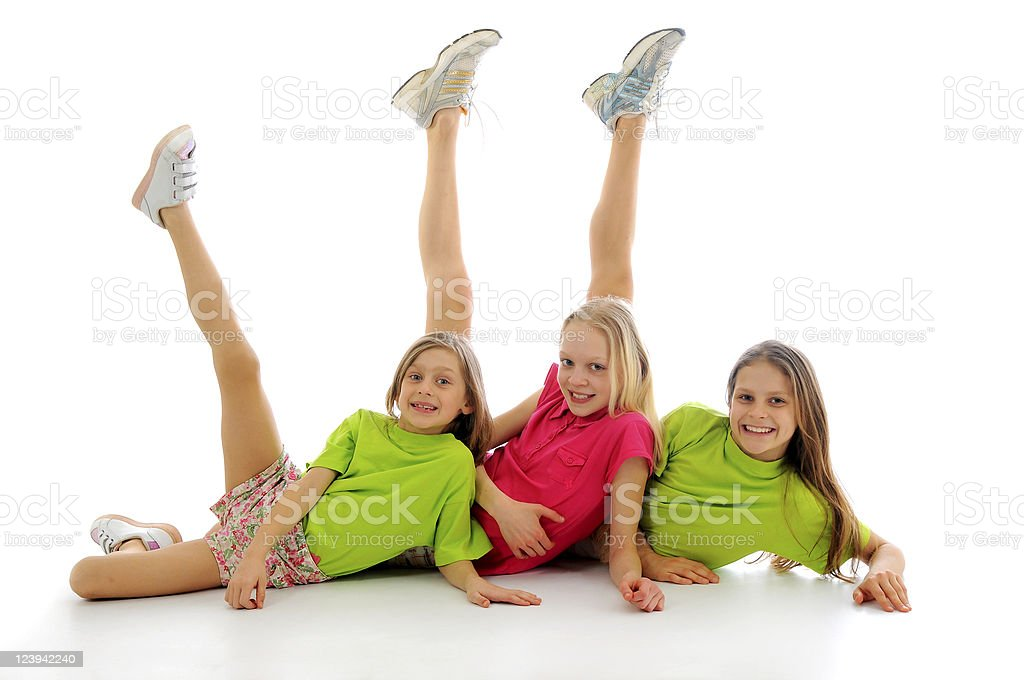 Sporting girls royalty-free stock photo