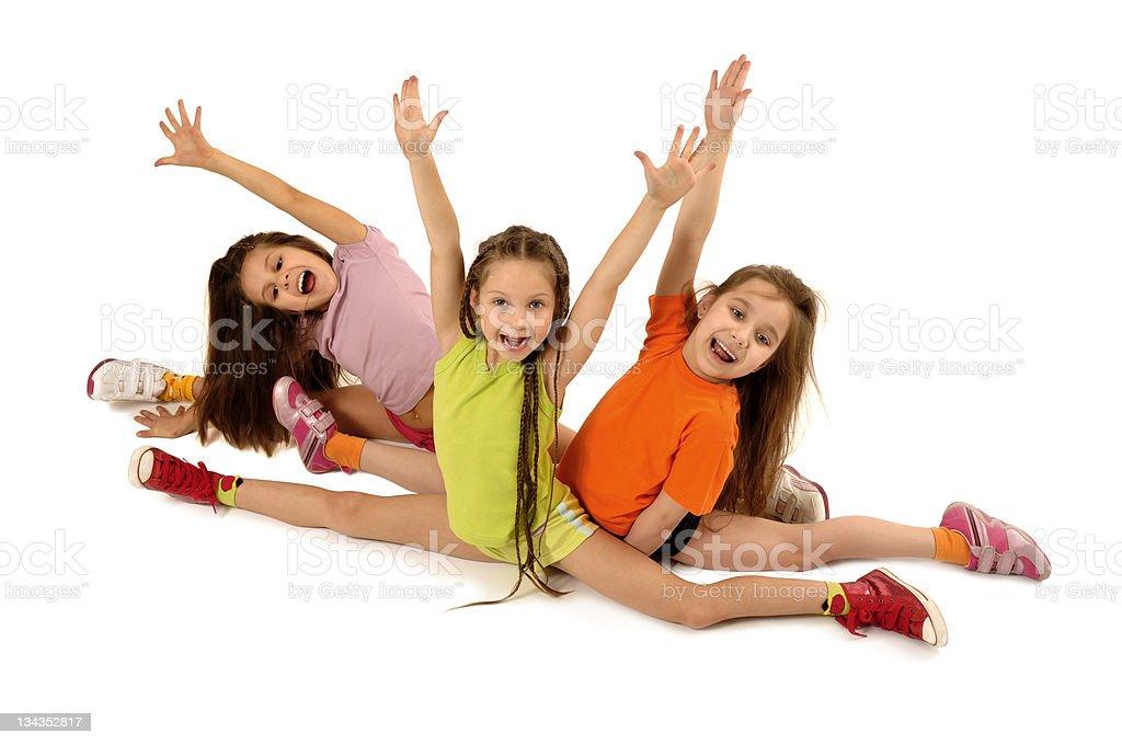 Sporting girls royalty-free stock photo