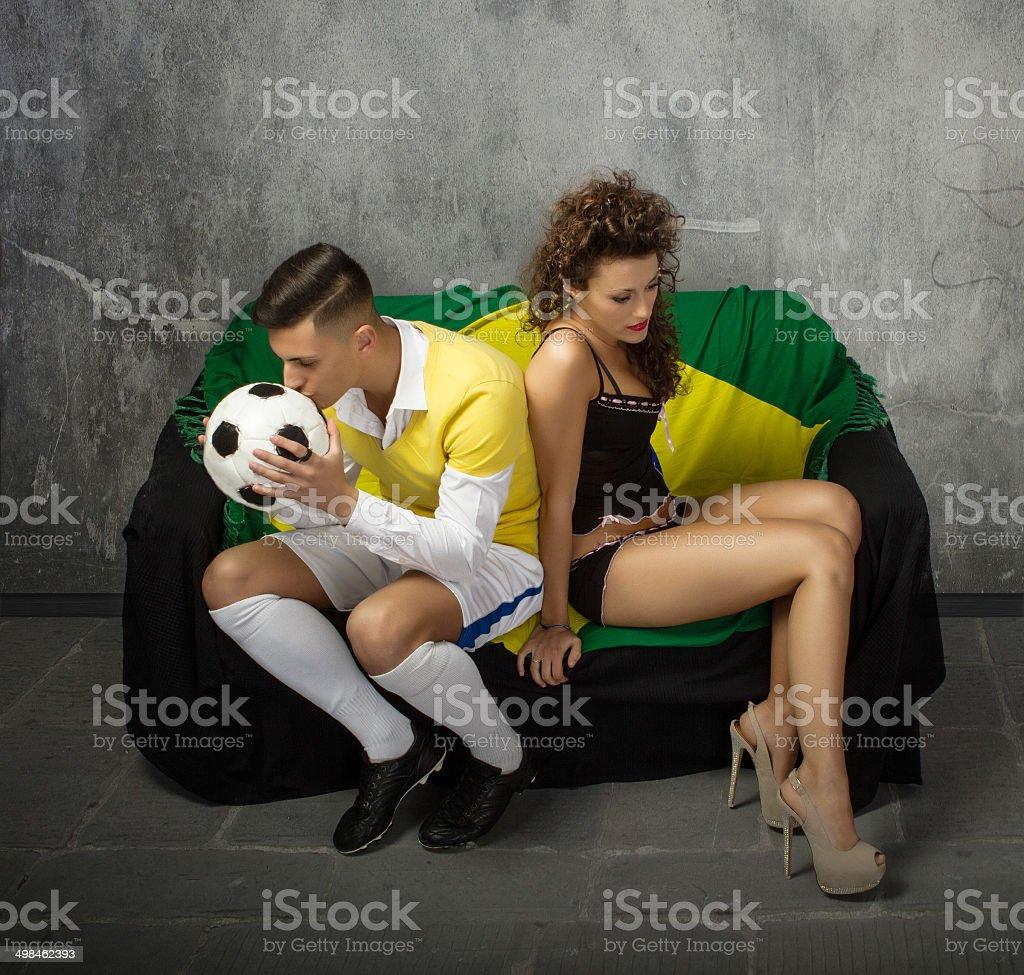 sportive couple crisis concept stock photo