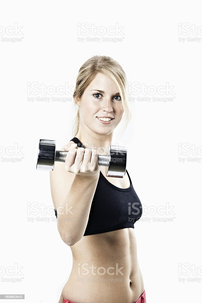 sportive woman panel format royalty-free stock photo