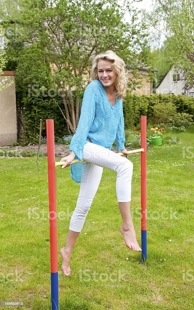 sportive young woman stock photo