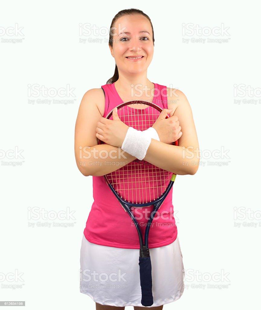 sportperson woman tennis stock photo