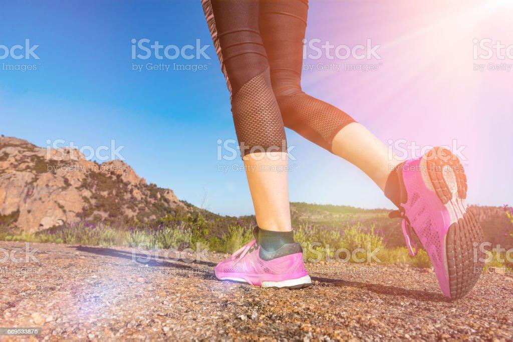 Sports activity towards a healthier lifestyle stock photo