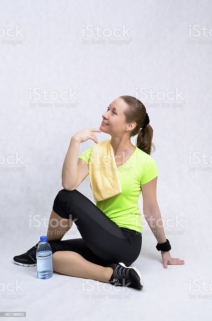 Sports and fitness for a healthy lifestyle stock photo