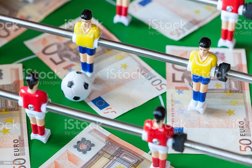 Sports and money concept stock photo