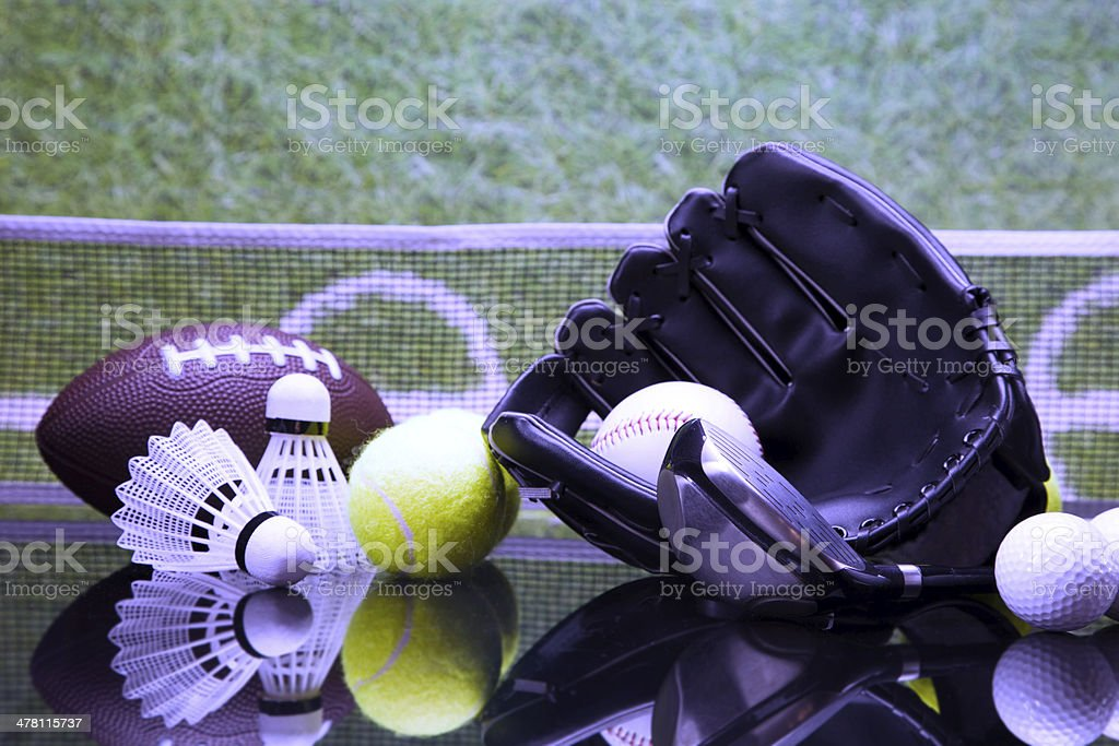 Sports articles royalty-free stock photo
