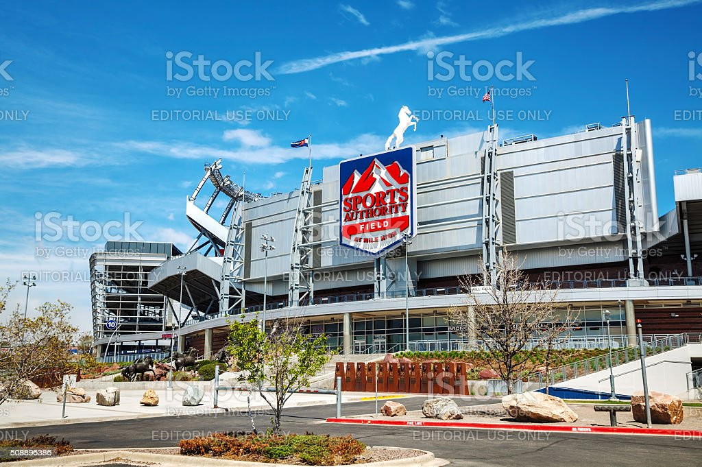 Sports Authority Field at Mile High in Denver stock photo