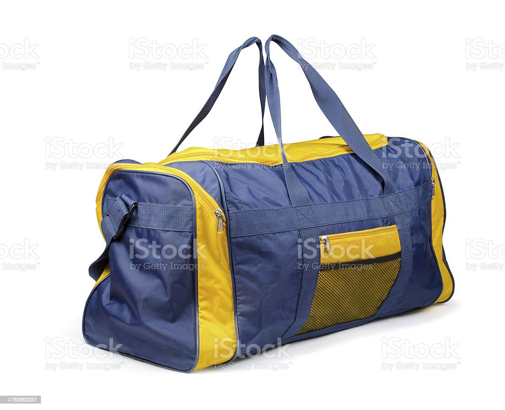 Sports bag stock photo