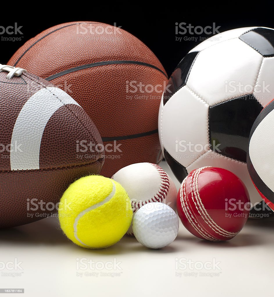 Sports balls royalty-free stock photo