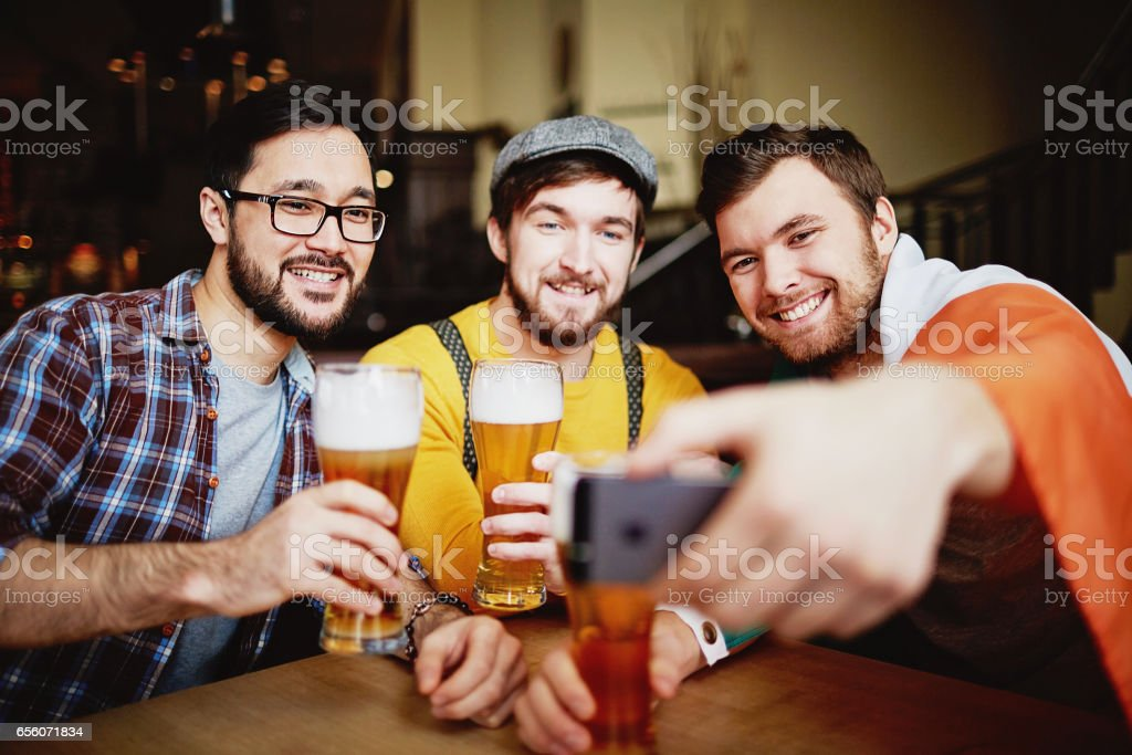 Sports Bar Meeting stock photo