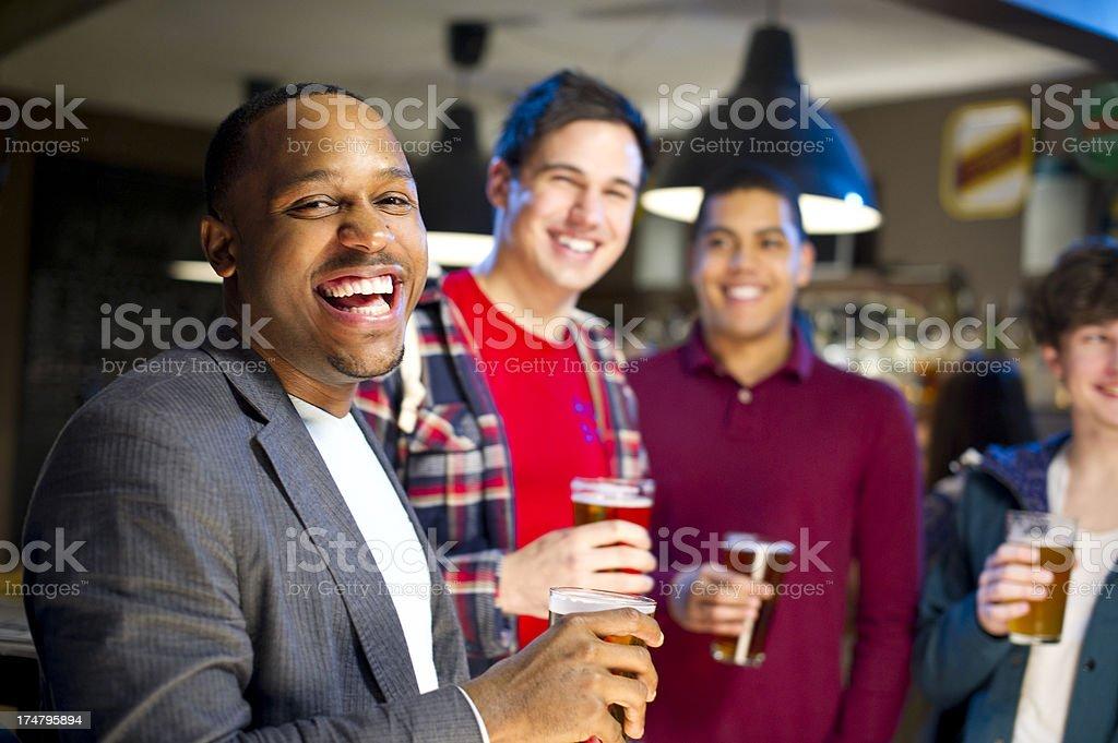 sports bar men royalty-free stock photo