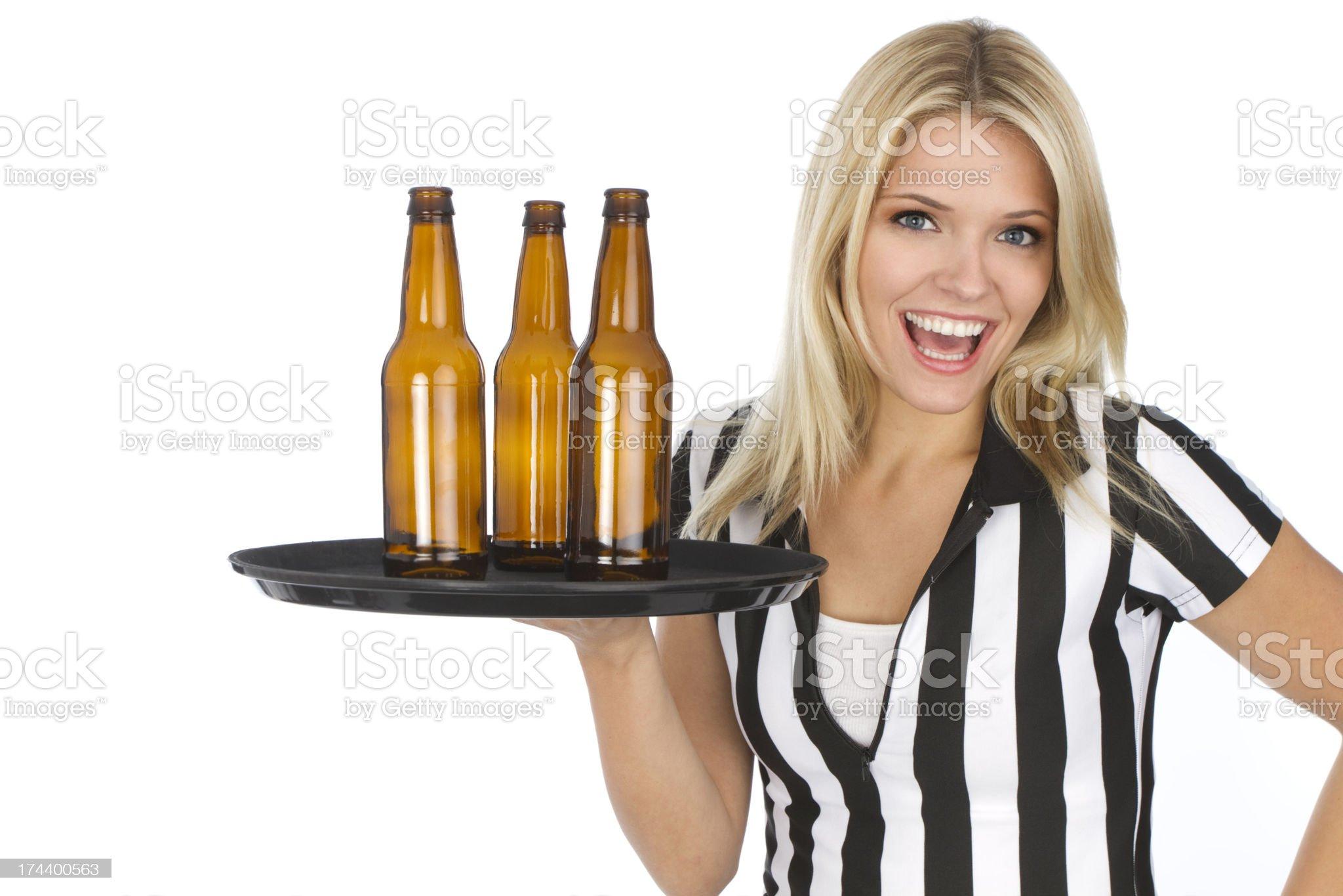 sports bar waitress royalty-free stock photo
