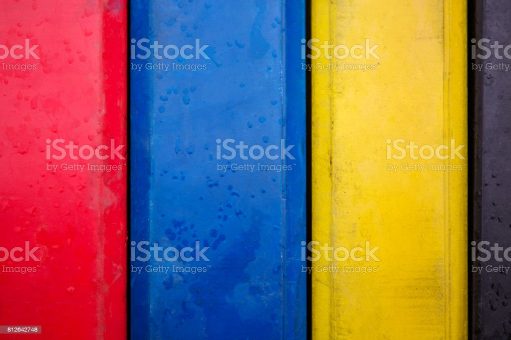 sports bar with loads of different colors stock photo