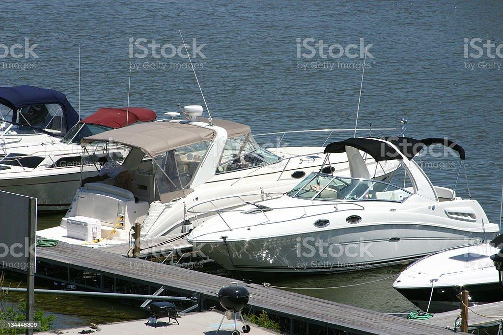 Sports boats royalty-free stock photo