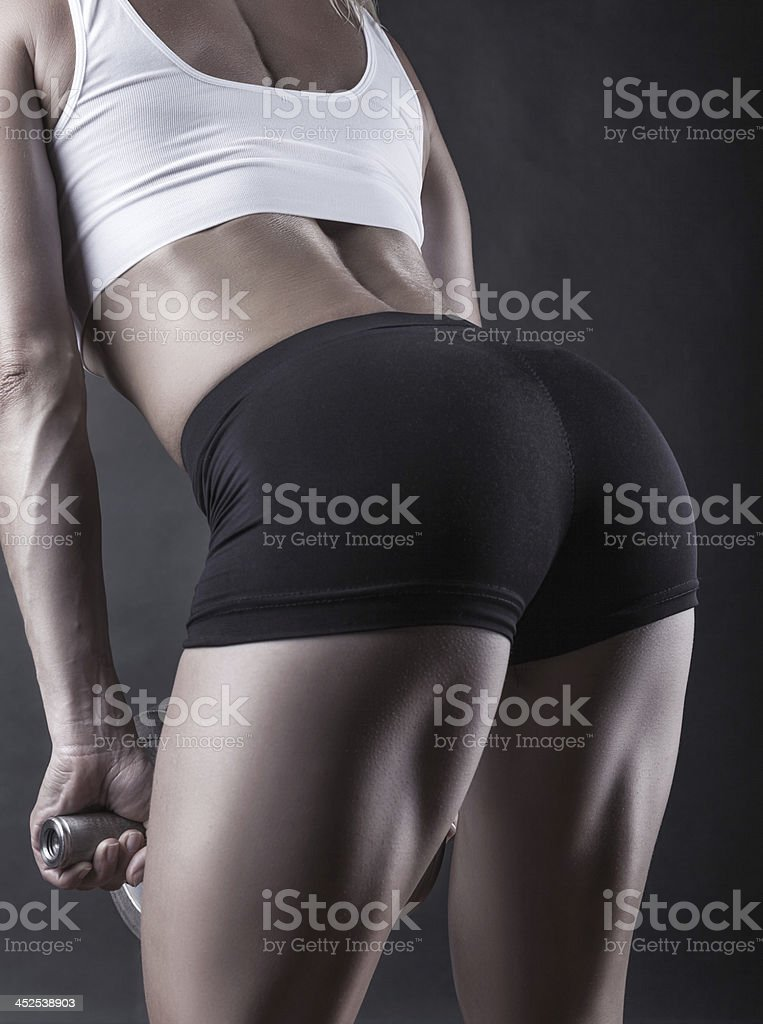 Sports buttocks stock photo