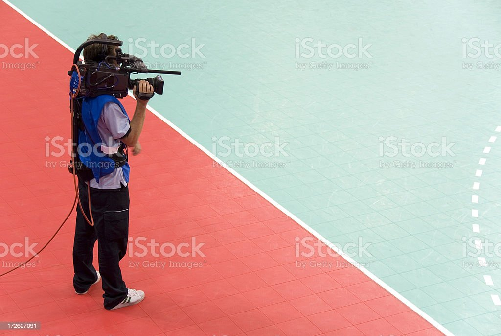 Sports Cameraman stock photo