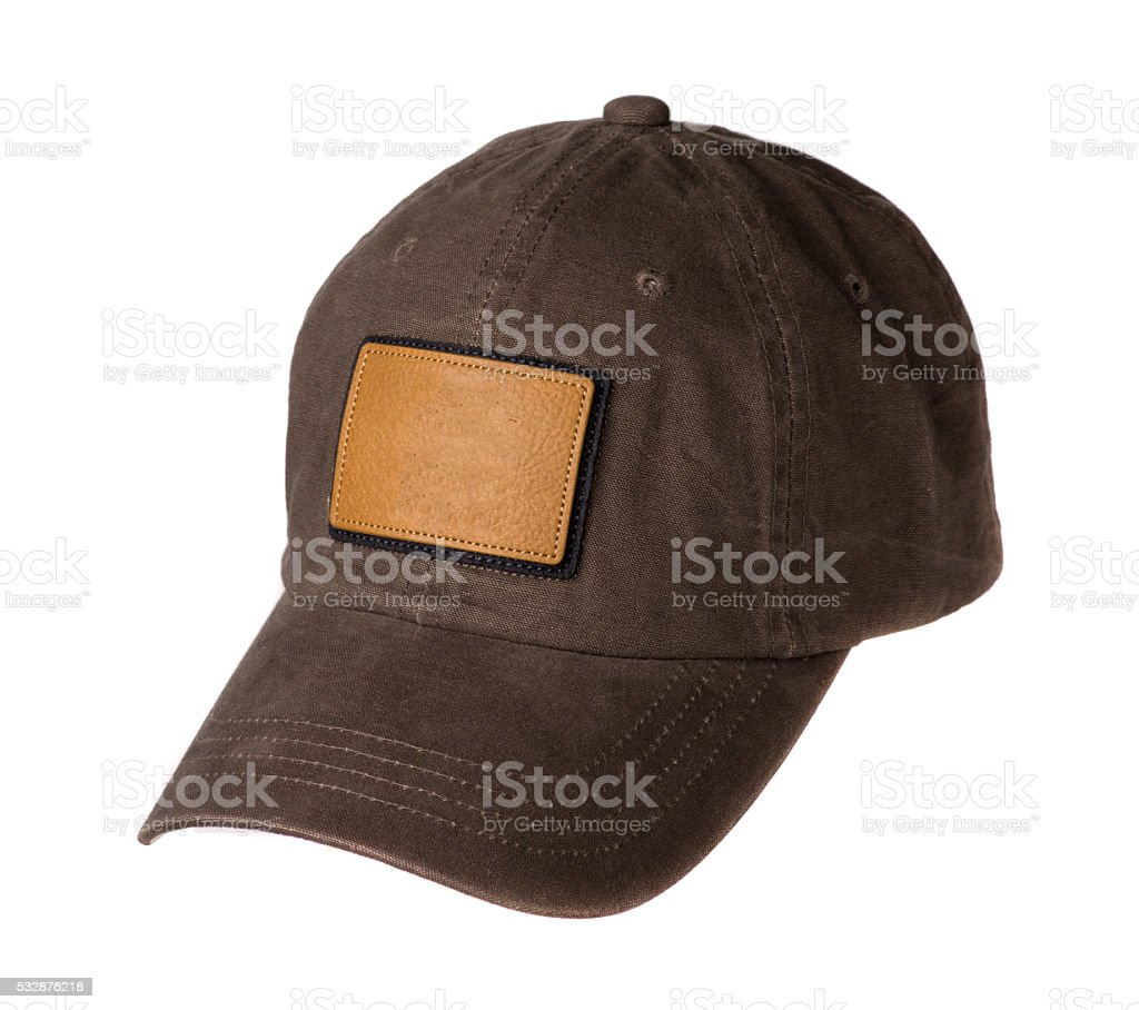sports cap isolated on a white background stock photo