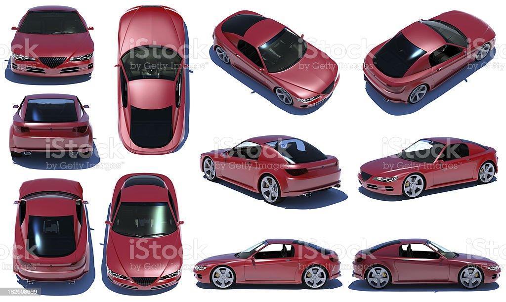 Sports car 360 royalty-free stock photo