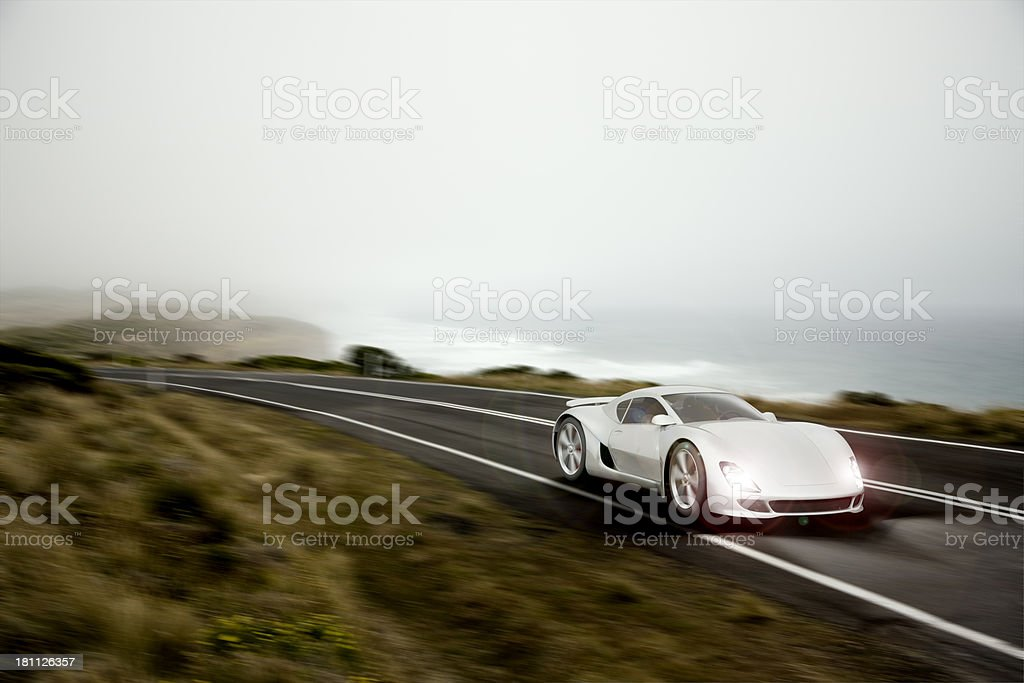 Sports Car at Dusk stock photo
