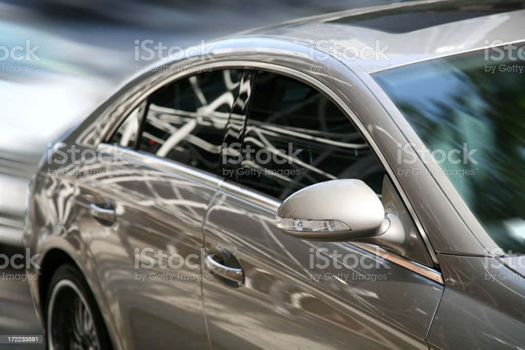 Sports Car, Blurred Motion royalty-free stock photo