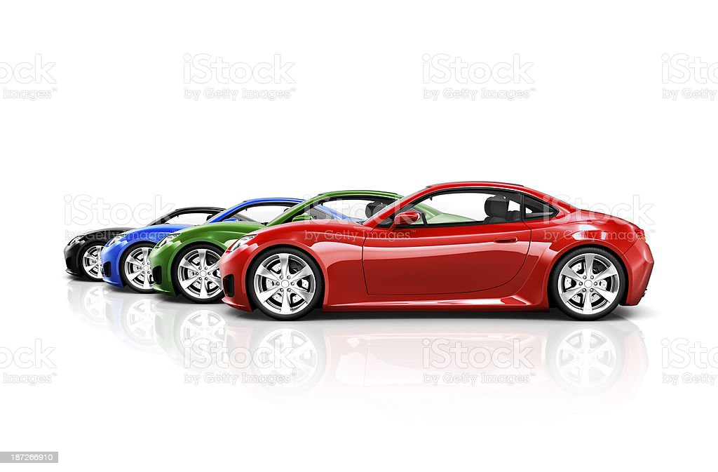 Sports Car Collection stock photo