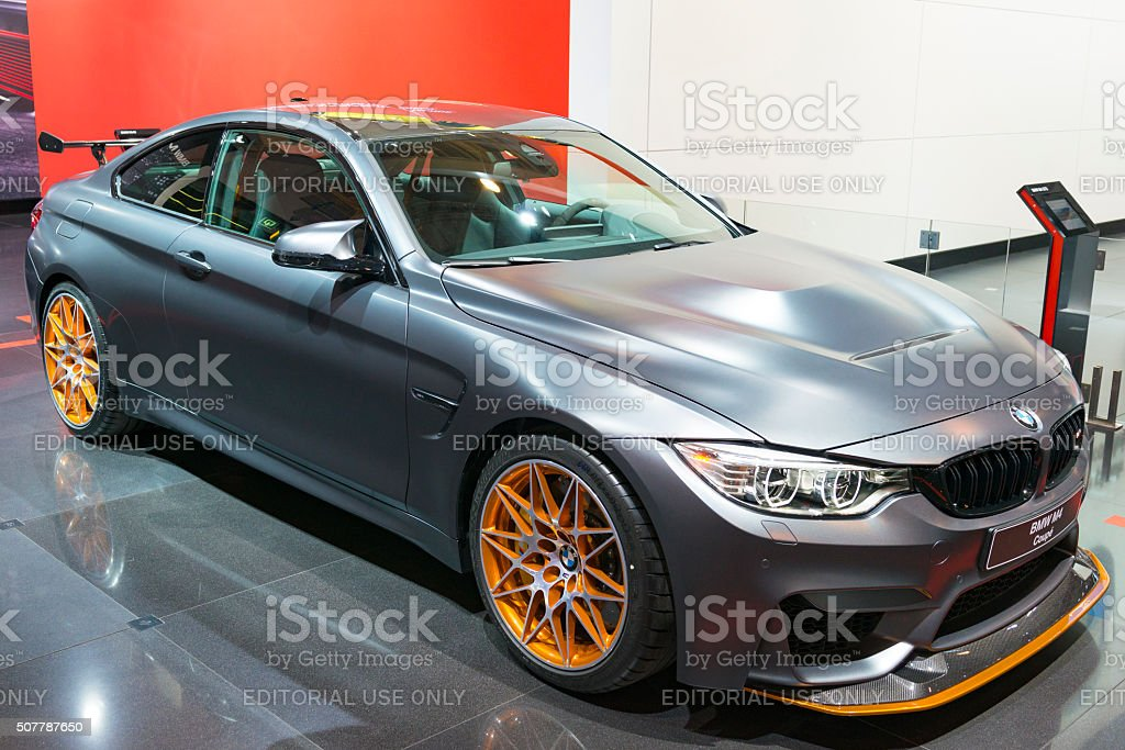 BMW M4 GTS Coupe sports car stock photo