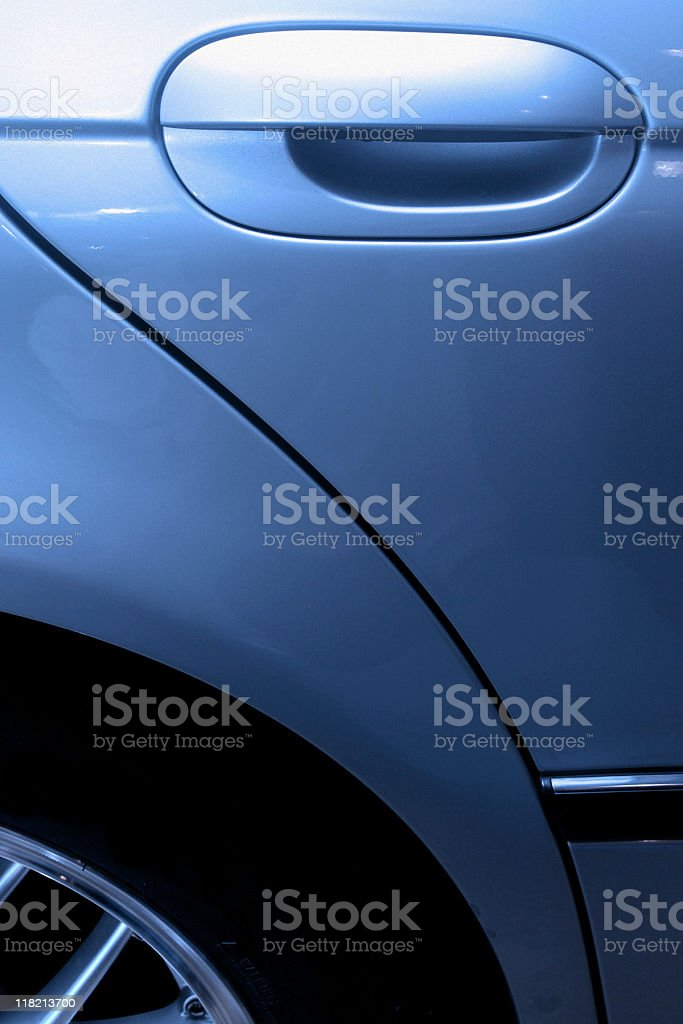 Sports Car Door Handle - Shiny Detailing royalty-free stock photo