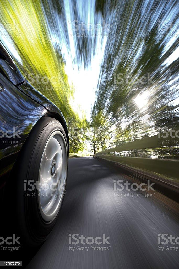 Sports Car Drive. stock photo