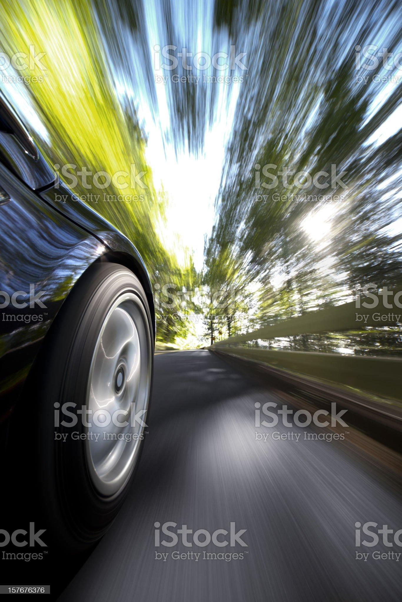 Sports Car Drive. royalty-free stock photo