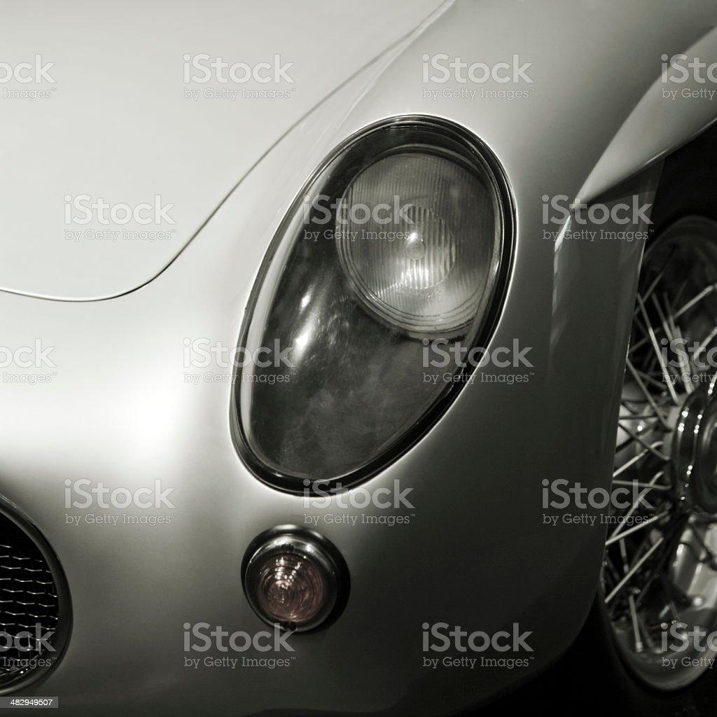 sports car headlight (50s-60s) royalty-free stock photo