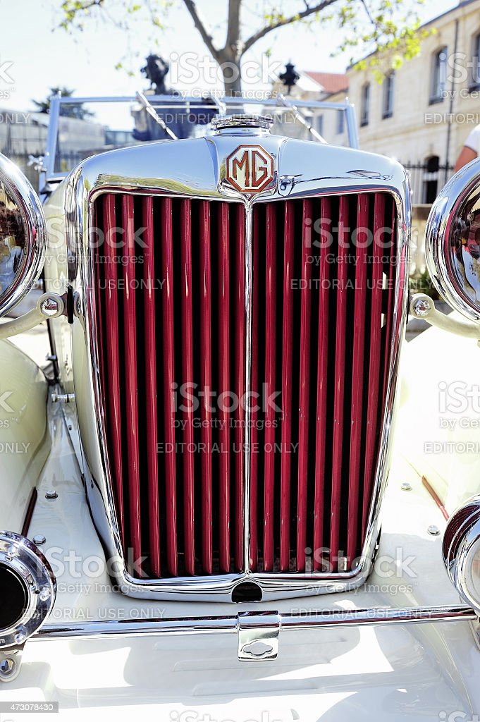 MG sports car in 1953 years stock photo