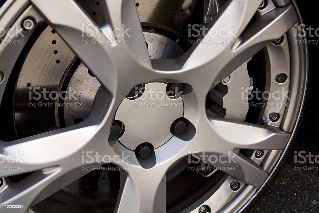 Sports Car Rim royalty-free stock photo