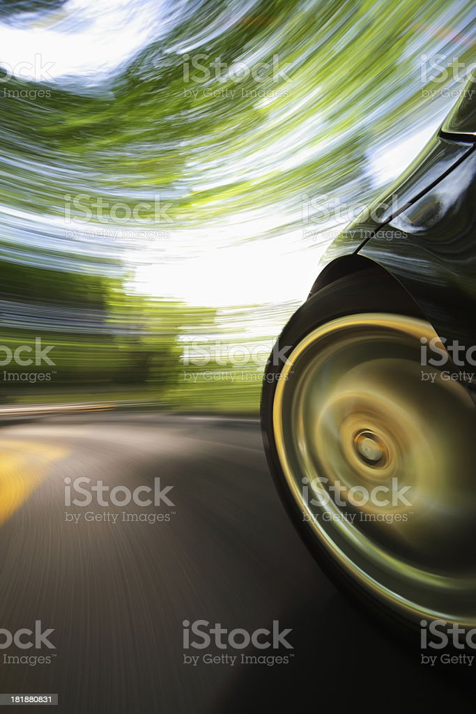 Sports Car Speed. royalty-free stock photo