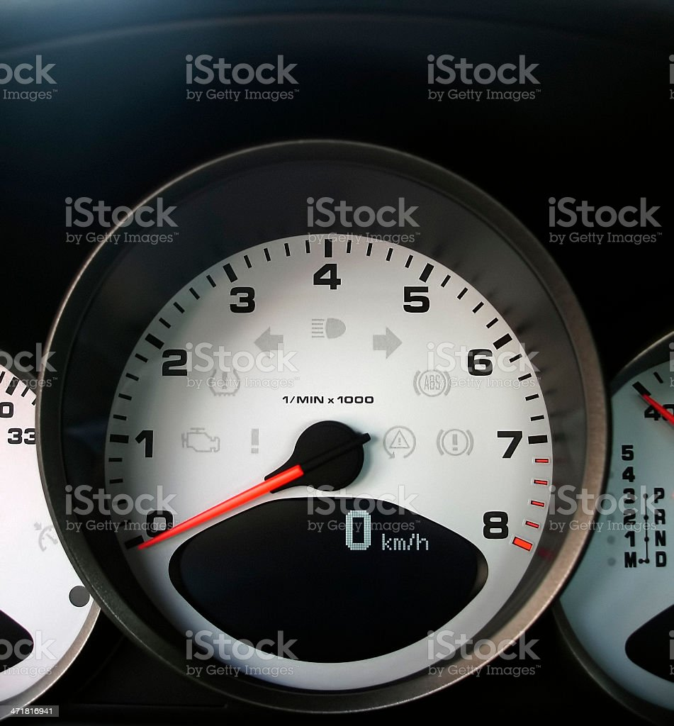 sports car tachometer royalty-free stock photo