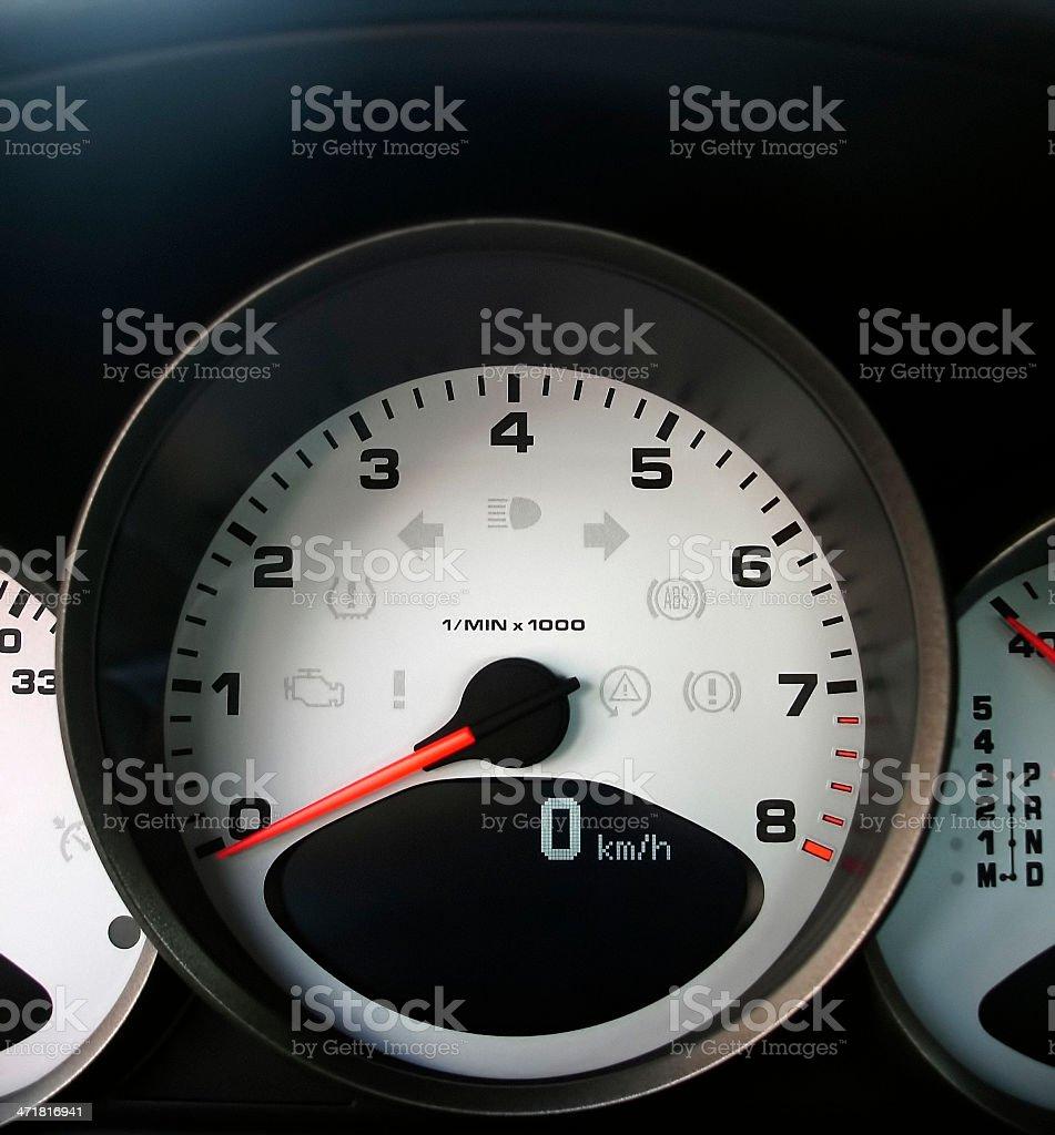 sports car tachometer stock photo