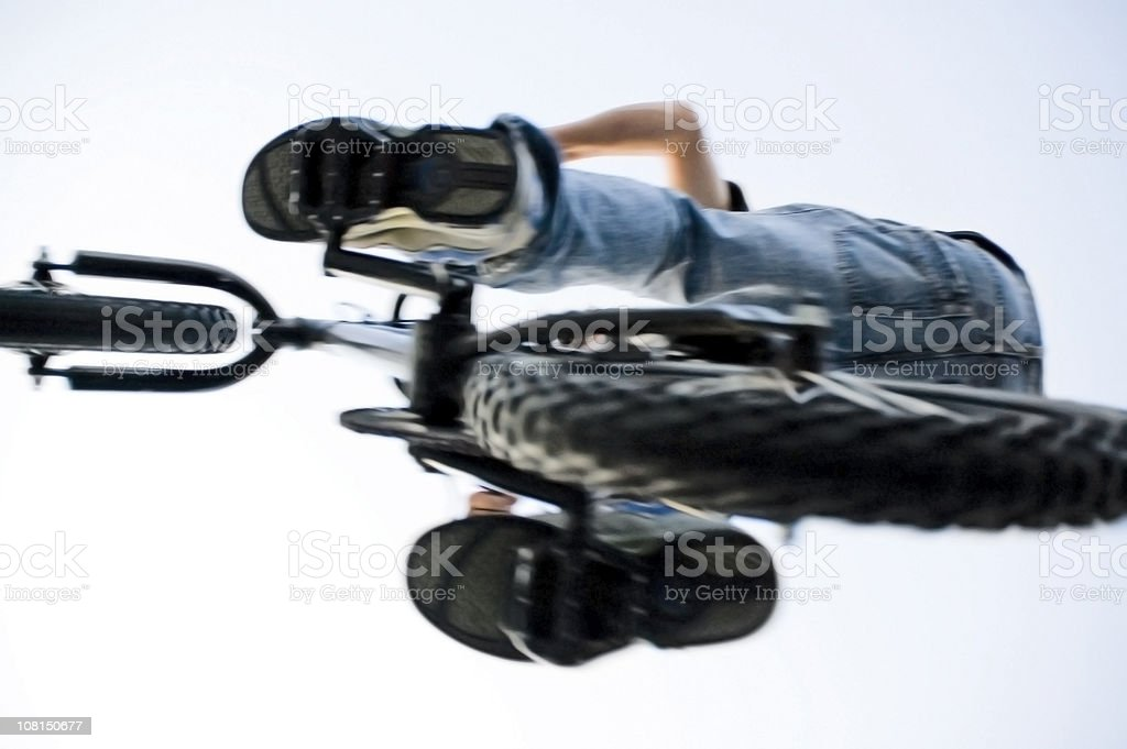 Sports: Catching Air on a Bike royalty-free stock photo