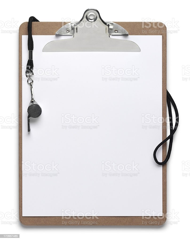Sports Clipboard stock photo