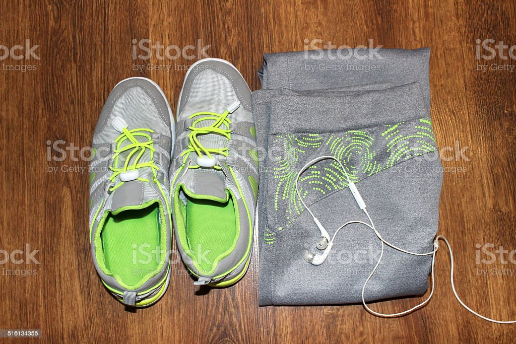 sports clothing and footwear stock photo