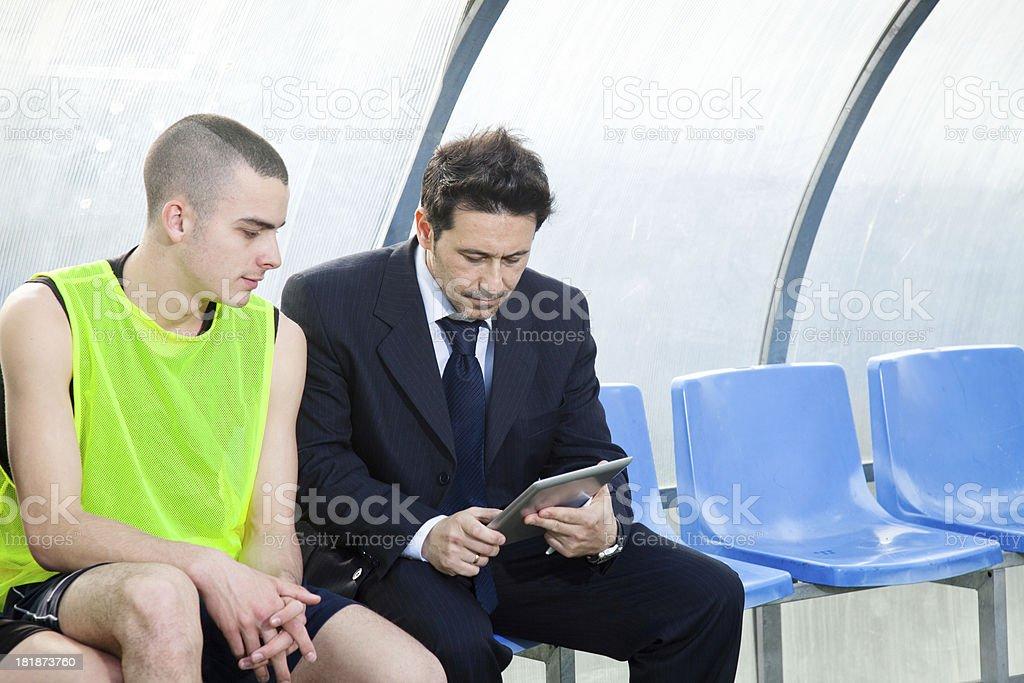 Sports coach stock photo