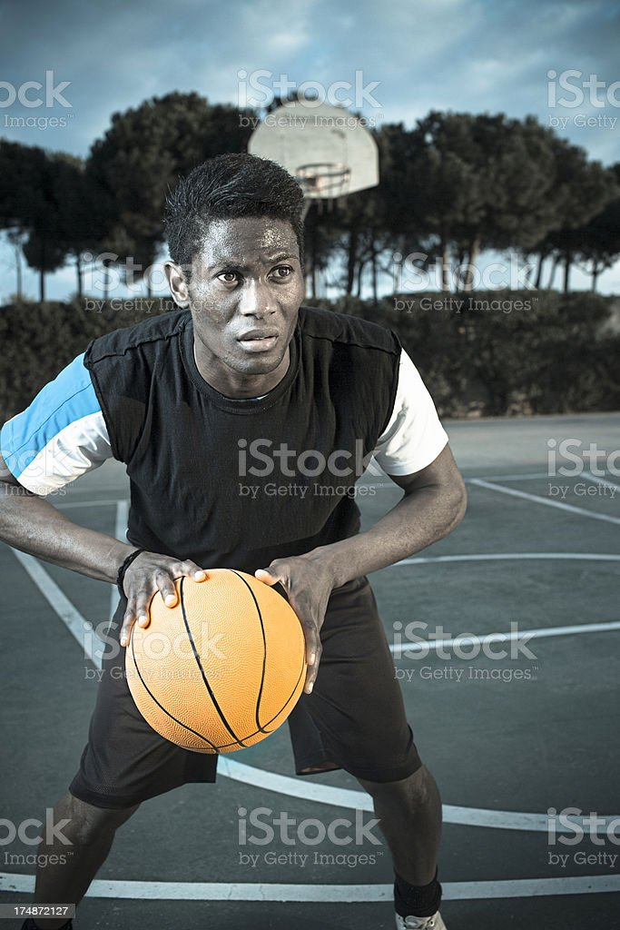 Sports concentration royalty-free stock photo