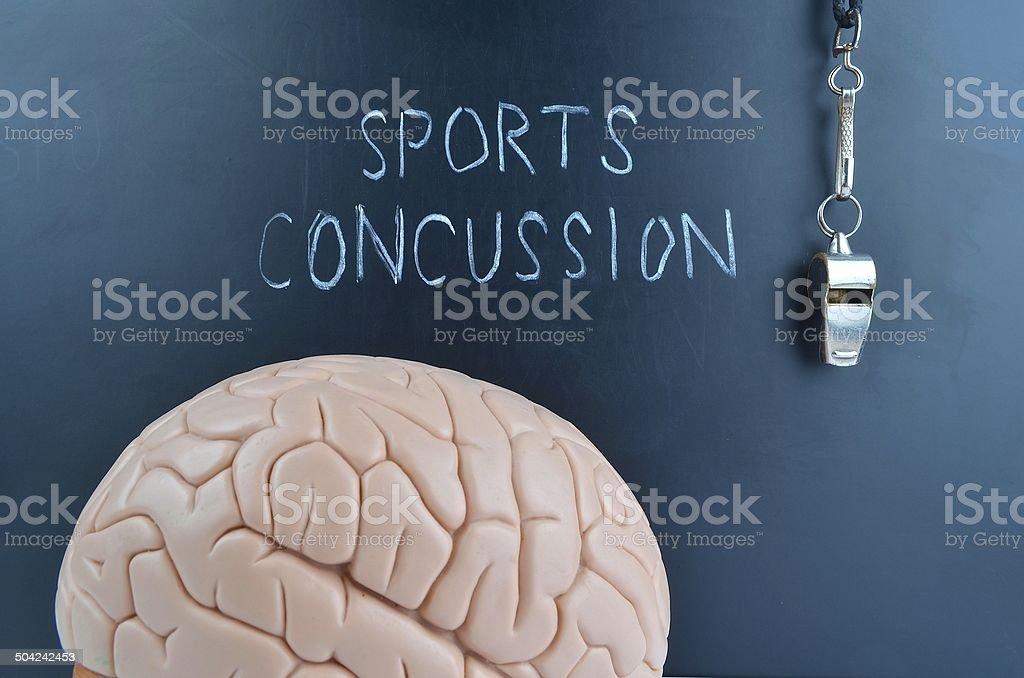 Sports Concussion stock photo