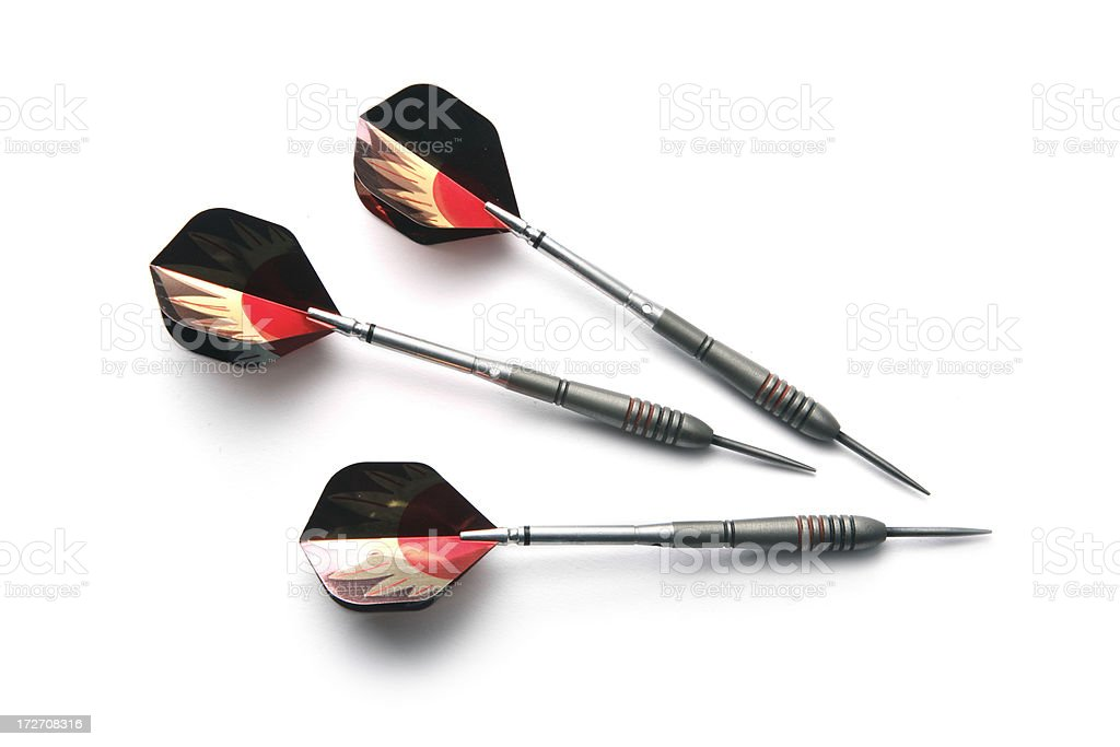 Sports: Darts Isolated on White Background royalty-free stock photo