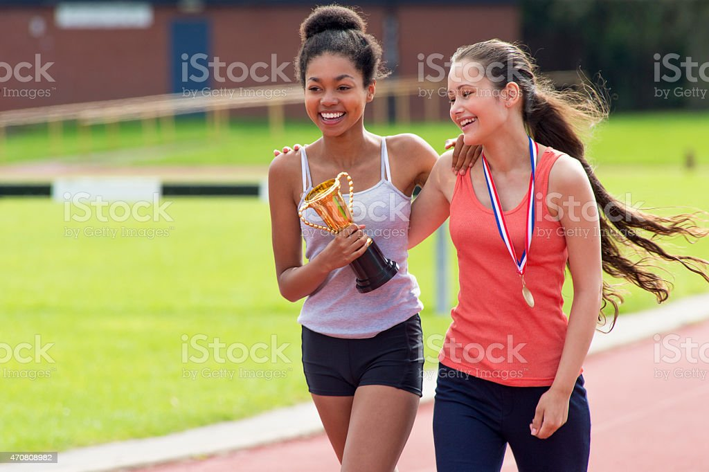 Sports Day Victory stock photo