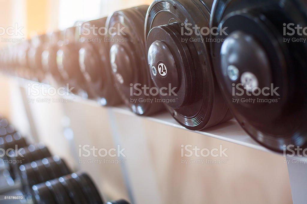 Sports dumbbells stock photo